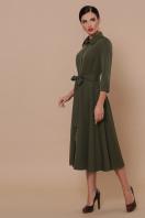 приталенное бордовое платье. платье Ефимия д/р. Цвет: хаки купить