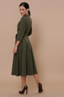 приталенное бордовое платье. платье Ефимия д/р. Цвет: хаки в интернет-магазине