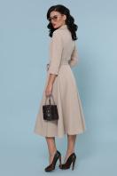 приталенное бордовое платье. платье Ефимия д/р. Цвет: бежевый в интернет-магазине