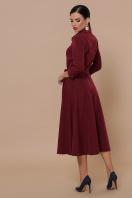 приталенное бордовое платье. платье Ефимия д/р. Цвет: бордо в интернет-магазине