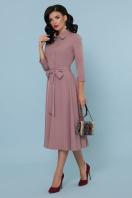 офисное платье цвета хаки. платье Ефимия д/р. Цвет: лиловый купить