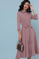 офисное платье цвета хаки. платье Ефимия д/р. Цвет: лиловый цена