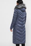 длинная коричневая куртка. Куртка 19-59. Цвет: 24-серо-синий цена