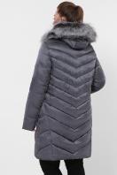 батальная куртка с мехом. Куртка 19-60-Б. Цвет: 15-графит цена