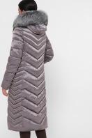 длинная коричневая куртка. Куртка 19-59. Цвет: 8-серый-металл цена