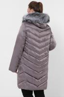 батальная куртка с мехом. Куртка 19-60-Б. Цвет: 8-серо-коричневый цена