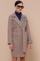 двубортное темно-серое пальто. Пальто П-347-М-90. Цвет: 1-коричневый цена