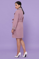 двубортное темно-серое пальто. Пальто П-347-М-90. Цвет: 8-А-розовый цена