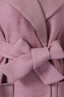 двубортное темно-серое пальто. Пальто П-347-М-90. Цвет: 8-А-розовый в интернет-магазине