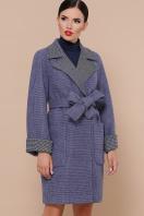 двубортное темно-серое пальто. Пальто П-347-М-90. Цвет: 11-синий купить