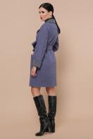 двубортное темно-серое пальто. Пальто П-347-М-90. Цвет: 11-синий цена