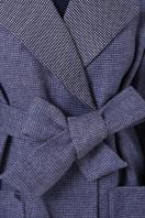 двубортное темно-серое пальто. Пальто П-347-М-90. Цвет: 11-синий в интернет-магазине