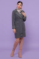 двубортное темно-серое пальто. Пальто П-347-М-90. Цвет: 12-т.серый купить