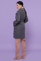 двубортное темно-серое пальто. Пальто П-347-М-90. Цвет: 12-т.серый цена
