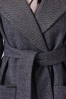 двубортное темно-серое пальто. Пальто П-347-М-90. Цвет: 12-т.серый в интернет-магазине