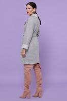 двубортное темно-серое пальто. Пальто П-347-М-90. Цвет: 15-св.серый цена
