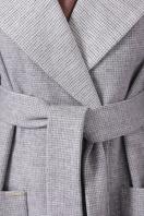 двубортное темно-серое пальто. Пальто П-347-М-90. Цвет: 15-св.серый в интернет-магазине