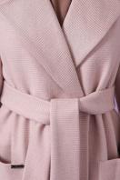 двубортное темно-серое пальто. Пальто П-347-М-90. Цвет: 3-пудра в интернет-магазине