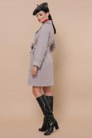 двубортное темно-серое пальто. Пальто П-347-М-90. Цвет: 8-св.бежевый цена