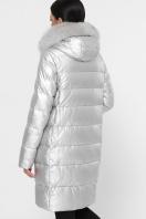 золотистая куртка на зиму. Куртка М-18-138. Цвет: 22-серебро цена