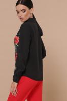 черная блузка с цветами. Маки Лекса КШ блуза д/р. Цвет: черный купить