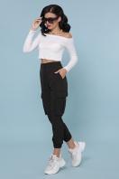 брюки карго цвета хаки. брюки-карго Стеф. Цвет: черный в интернет-магазине