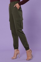 черные брюки карго. брюки-карго Стеф. Цвет: хаки купить