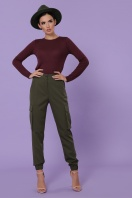 черные брюки карго. брюки-карго Стеф. Цвет: хаки в интернет-магазине