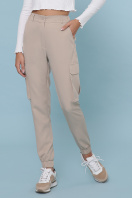 бежевые брюки карго. брюки-карго Стеф. Цвет: бежевый цена