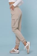 бежевые брюки карго. брюки-карго Стеф. Цвет: бежевый в интернет-магазине