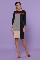черное платье с контрастными вставками. платье Ассоль д/р. Цвет: черный цена
