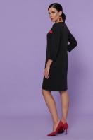 черное платье с контрастными вставками. платье Ассоль д/р. Цвет: черный в интернет-магазине