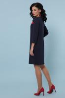 черное платье с контрастными вставками. платье Ассоль д/р. Цвет: синий в интернет-магазине