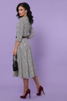 клетчатое платье для офиса. платье Киана-К д/р. Цвет: клетка серая-красная пол. цена