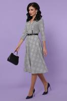 офисное платье в клетку. платье Киана-К д/р. Цвет: клетка серая-синяя пол. цена