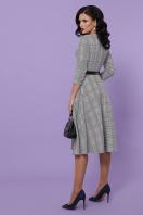 офисное платье в клетку. платье Киана-К д/р. Цвет: клетка серая-синяя пол. в интернет-магазине