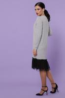 бордовое платье с фатином. Платье Касия д/р. Цвет: серый цена