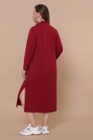 бордовое платье для пышных женщин. платье Джилл-Б д/р. Цвет: бордо цена