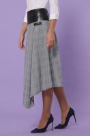 офисная юбка в клетку. юбка мод. №39. Цвет: клетка серая-голубая пол. купить
