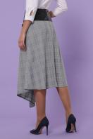 офисная юбка в клетку. юбка мод. №39. Цвет: клетка серая-голубая пол. цена