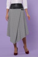 офисная юбка в клетку. юбка мод. №39. Цвет: клетка серый-розовый купить