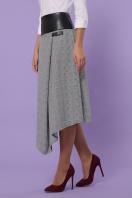 офисная юбка в клетку. юбка мод. №39. Цвет: клетка серый-розовый цена