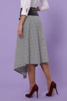 офисная юбка в клетку. юбка мод. №39. Цвет: клетка серый-розовый в интернет-магазине