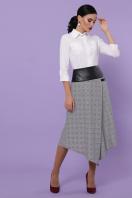 офисная юбка в клетку. юбка мод. №39. Цвет: клетка серый-розовый в Украине