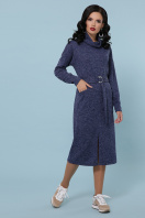 персиковое платье с воротником хомут. платье Дакота д/р. Цвет: синий купить