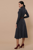 изумрудное теплое платье. Ава платье д/р. Цвет: синий в интернет-магазине