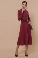 изумрудное теплое платье. Ава платье д/р. Цвет: бордо цена