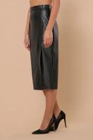 синяя кожаная юбка. юбка мод. №40. Цвет: черный купить