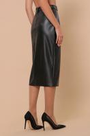 синяя кожаная юбка. юбка мод. №40. Цвет: черный цена