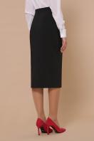черная юбка ниже колена. юбка мод. №42. Цвет: черный цена